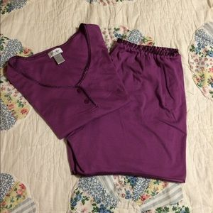 Nordstrom Plum 2pc PJ Short Set